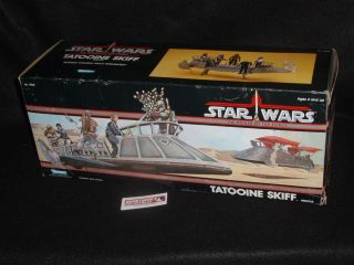 1984 Vintage Star Wars ROTJ Power of the Force POTF Tatooine Skiff