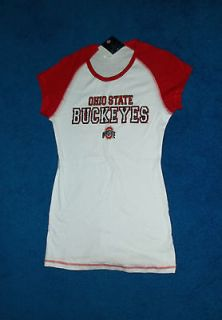 RED WHITE BLING OHIO STATE BUCKEYES T SHIRT TOP SHIRT SIZE 15   17
