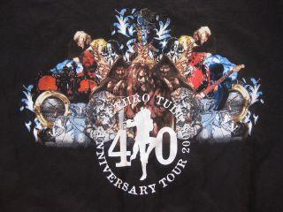 XL black JETHRO TULL 2008 40th anniversary tour T Shirt USA flute