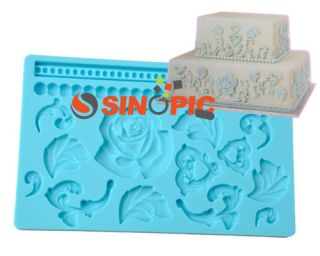 New Rose Shaped Silicone Mold/Cutter Cake Decoration Tool Necessity