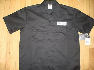 New Black Chi City Apparel Dickies Mechanics Shirt Size L Chicago