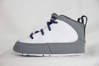 Nike Air Jordan Retro 9 (IX) White/Purple (GP) Gift Pack Kids Baby