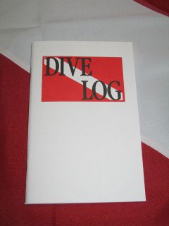Dive Log Book SCUBA diving equipment paper logbook, for scuba diving