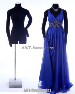 Female mannequin w. pinnable flexible arms + hands display black dress