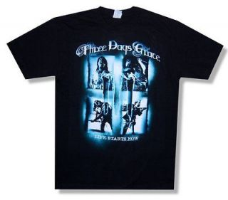 THREE DAYS GRACE   LIFE STARTS NOW TOUR SCREAM SQUARES T SHIRT   NEW