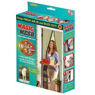Newly listed Magic Mesh Hand Free Black Screen Door Keep Fresh Air In