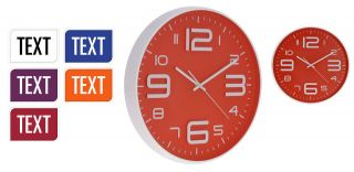 Large 30cm Contemporary Wall Clock Kitchen Clock Choice of 6 Modern