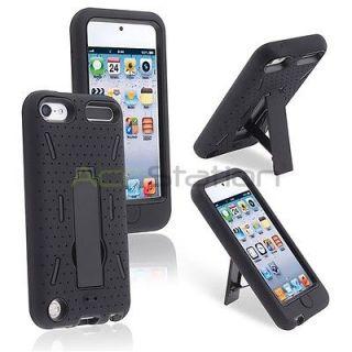For iPod touch 5 5th Gen 5G Black Hybrid Heavy Duty Skin/Hard Case