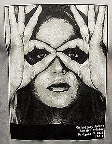 BRITNEY SPEARS Pop Star Icon Vintage Punk Rock Madonna T Shirt S