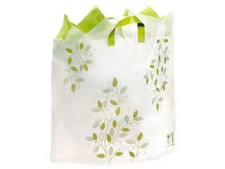 IVY LANE PLASTIC FROSTED shopping / gift bags (200 COLOSSAL 22X18X8