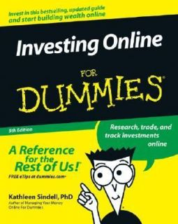 Investing Online for Dummies by Kathleen Sindell 2005, Paperback