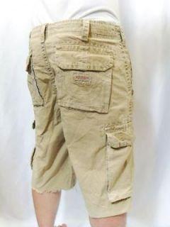 TRUE RELIGION Jeans Mens ISAAC Cargo Shorts Khaki Wheat