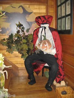Grandinroad Halloween life size prop Headless horseman figure man 6