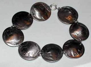 Coin Jewelry Antique Buffalo/ Indian Nickel Bracelet