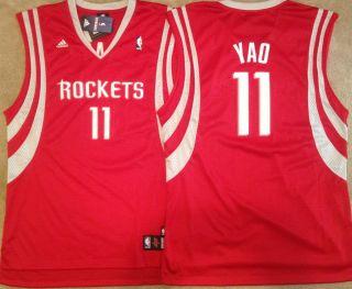 Yao Ming Houston Rockets Swingman Mens Sewn Jersey Red NWT