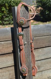Tex Tan Harness One Ear Concho Headstall with Spots