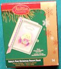 Carlton Cards Heirloom Collection #14   Babys First Christmas Record
