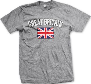 Flag The Union Jack England Mens T shirtOlympic Geams Soccer Tees