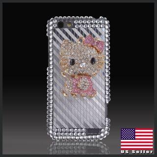Hello Kitty Diamonds bling rhinestone case cover for HTC One V T320e