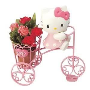 Hello Kitty KC4026 Planter Holder Bicycle / SANRIO JAPAN certified