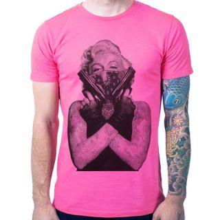 Marilyn Monroe Gun Tattoo Skull Grafitti Art design sexy men t shirt