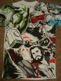 Movie Captain America Hulk Iron Man Allover Belt Marvel Comic Shirt