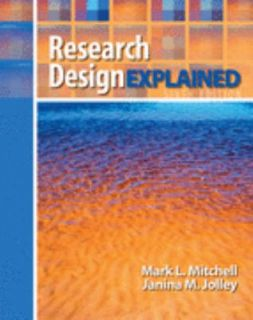 Research Design Explained by Janina M. Jolley and Mark L. Mitchell