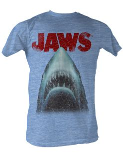 Jaws Movie Shark Attack Stressed Out Licensed Tee Shirt Adult Sizes S