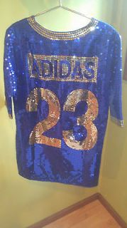 Adidas Originals Obyo Jeremy Scott Sequin FB jersey dress Retail $450