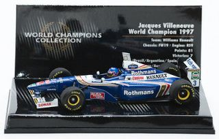 1997 Jacques Villeneuve 1/43 Minichamp World Champions Collection FW19
