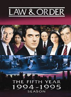 Law Order   The Fifth Year DVD, 2007, 5 Disc Set