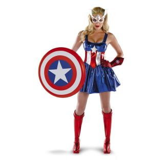 AMERICAN DREAM Sassy Deluxe Captain America Costume Large 12 14