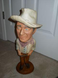 Vintage 1979 Esco Products Inc. John Wayne Chalkware Statue, RARE