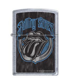 Zippo Rolling Stones Tongue Logo Street Chrome Lighter, Low Ship