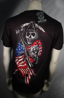 SONS OF ANARCHY 2SIDED AMERICAN FLAG BIKER REAPER SOA SAMCRO T SHIRT