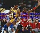 Magic Johnson MICHAEL JORDAN CHICAGO BULLS BASKETBALL N