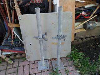 Heavy Duty Scaffold Screw Jacks 1 7/8 x 40 w/ 8 x 8 in. base