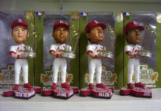 2011 WORLD SERIES TROPHY CARDINALS SET BOBBLE BOBBLEHEAD *ALL SIXTEEN
