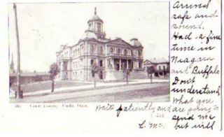 1906 CADIZ Ohio Postcard HARRISON County COURT HOUSE
