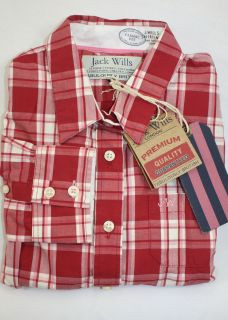 NEW JACK WILLS Womens Cairncross Classic Red Checked Shirt (£59) Sz 8