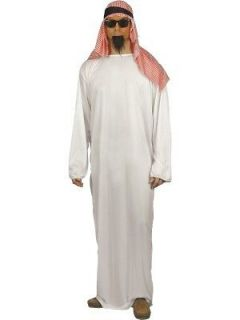 Arab Costume, with Long Tunic and Headdress   Mens Arabic Costume