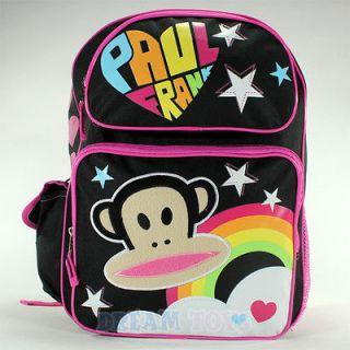 Paul Frank Julius the Monkey Stars Large 16 Backpack   Book Bag Girls