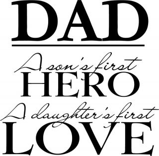 dad son daughter wall vinyl sticker decal decor quote expedited