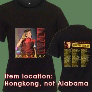 Justin Bieber Believe CD DVD Album Live Tour Date Tickets New TEE T
