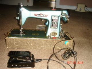 MORSE PRECISION SEWING MACHINE. 300 B L DELUXE MADE IN JAPAN SEE VIDEO