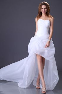 White/Ivory Organza Grace Karin New Short front long back Wedding