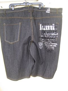 new karl kani unique black raw rinse demin jean shorts