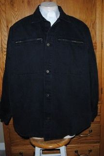 karl kani jeans denim jacket black sz xl