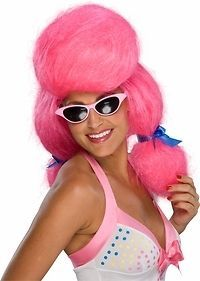 Giant Pink Katy Perry Wig Halloween Holiday Costume Accessory