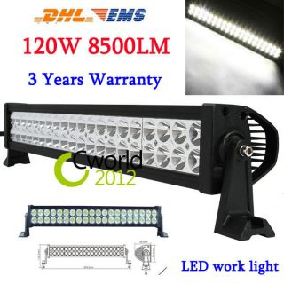 120w 8500LUM led work Driving light bar For JEEP SUV Mine Offroad lamp